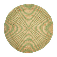Load image into Gallery viewer, Green Spiral Jute Rug