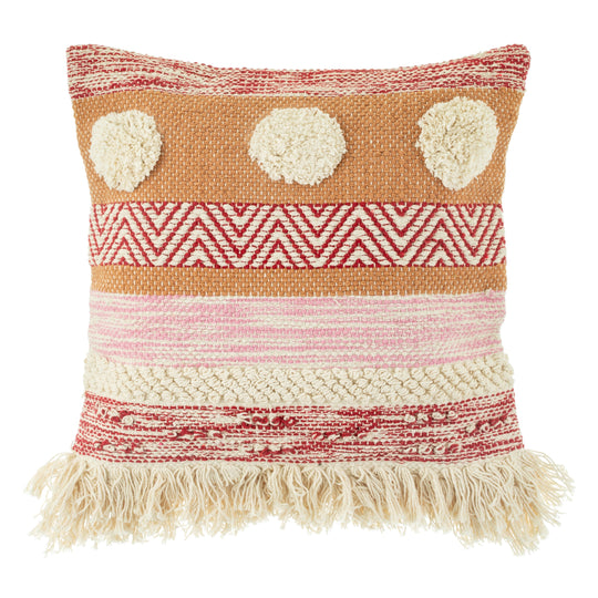 Nevada Pink Striped Cushion
