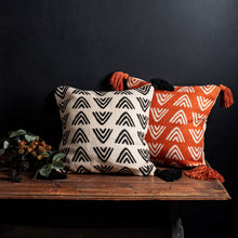 Load image into Gallery viewer, Triangles Block Print Cushion