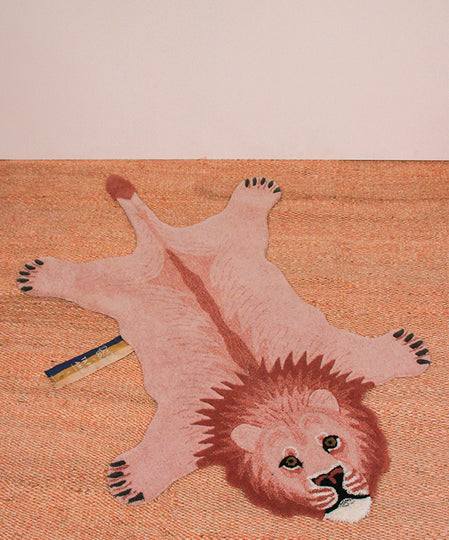 Small Pinky Lion Rug