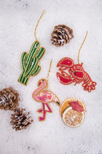 Load image into Gallery viewer, Cactus - Hand Embroidered Christmas Deco