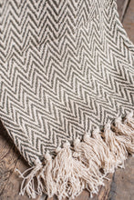 Load image into Gallery viewer, Cotton Herringbone Throw