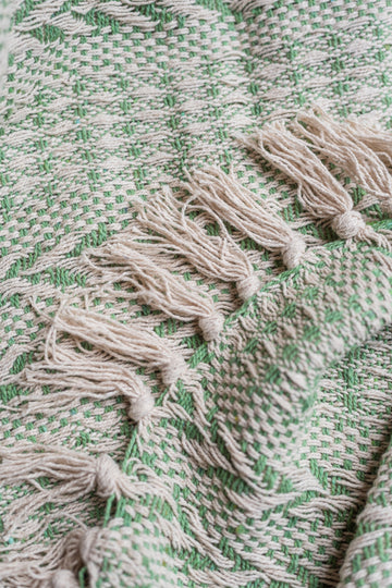 Cotton Stripe Weave Throw