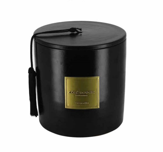 Black Terracotta Scented Candle