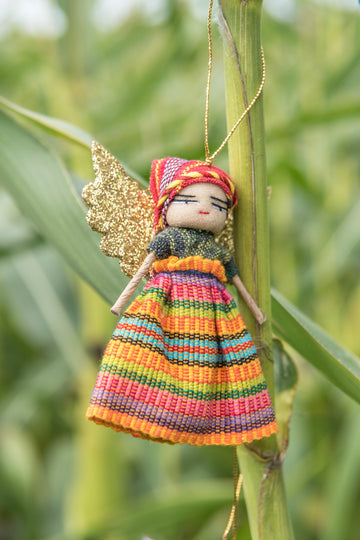 Guatemalan Worry Doll Christmas Angel