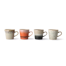 Load image into Gallery viewer, Ceramic 70's Americano Mugs (4)