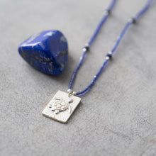 Load image into Gallery viewer, Delight Lapis Lazuli Silver Necklace