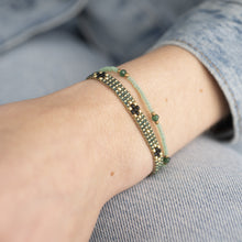 Load image into Gallery viewer, Summerlight Aventurine Gold Bracelet