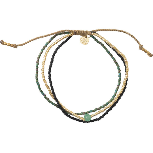 Bloom Aventurine Gold Bracelet