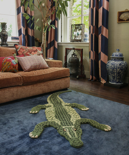 Large Coolio Crocodile Rug