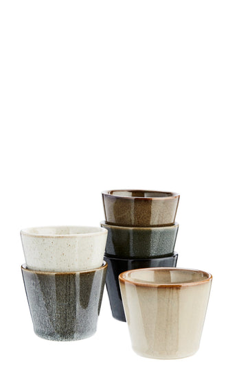 Set of 6 Stoneware Cups
