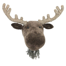 Load image into Gallery viewer, Mini Head - Velvet Moose with Antlers
