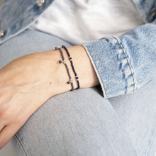 Load image into Gallery viewer, Friendly Lapis Lazuli Silver Bracelet