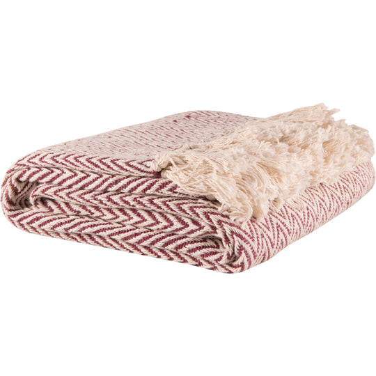 Cotton Herringbone Throw
