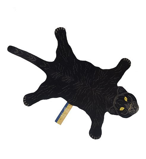 Small Fiery Black Panther Rug