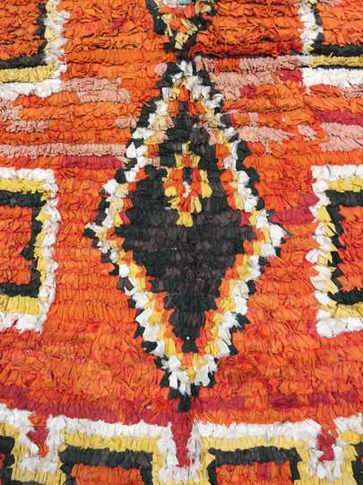 Orange Boucherouite Rug