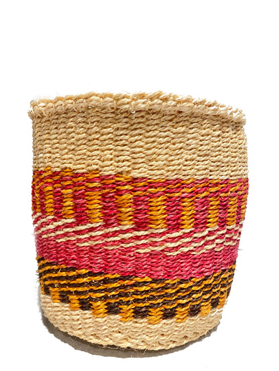 Hadithi Basket Fuchsia & Orange & Natural