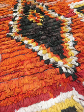 Load image into Gallery viewer, Orange Boucherouite Rug
