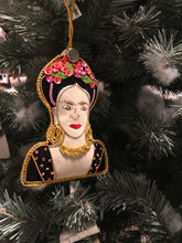 Load image into Gallery viewer, Frieda Kahlo - Hand Embroidered Christmas Deco