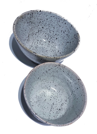 Set of Spotted Ceramic Salad Bowls