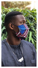 Load image into Gallery viewer, Senegalese Face Mask - flat model
