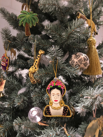 Frieda Kahlo - Hand Embroidered Christmas Deco