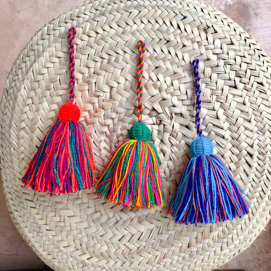 Single colorful handmade tassels - escape exclusive