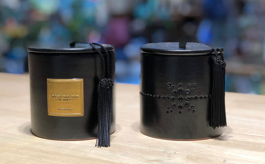 Black Relief Scented Candle
