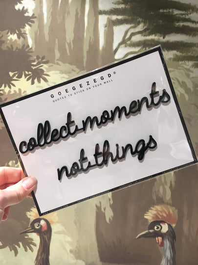 sticker quote - collect moments not things