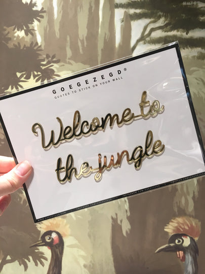 sticker quote - welcome to the jungle
