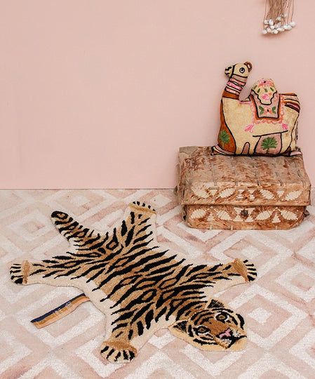 Large Drowsy Tiger Rug