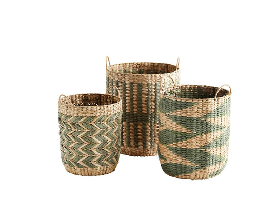 Small Wicker Basket with Handles