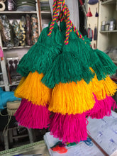 Load image into Gallery viewer, Triple colorful handmade tassels - escape exclusive