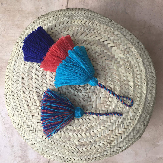 Triple colorful handmade tassels - escape exclusive