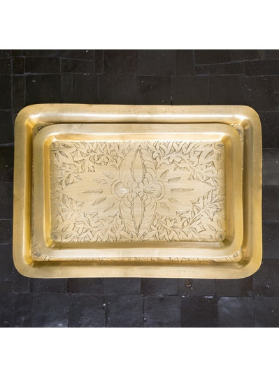 Medium Tray Oblong Gold