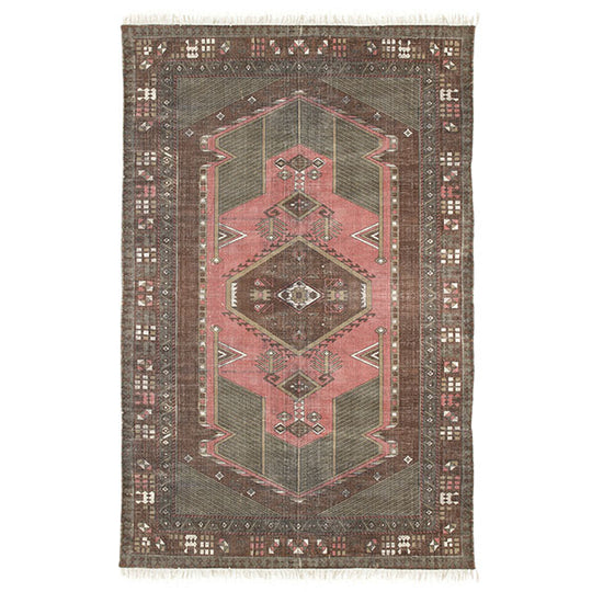 Printed Cotton Stonewashed Rug