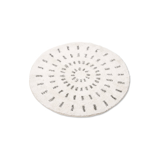Round Swirl Bath Mat - Medium