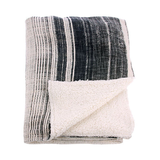 Striped Fleece Throw