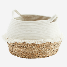 Load image into Gallery viewer, Cotton Rope Basket with Fringes