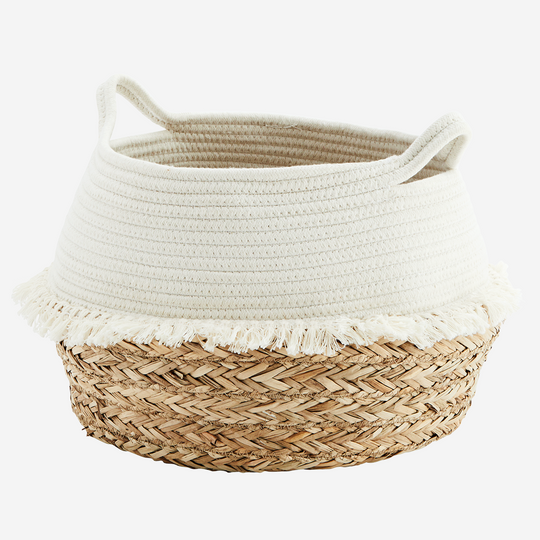 Cotton Rope Basket with Fringes