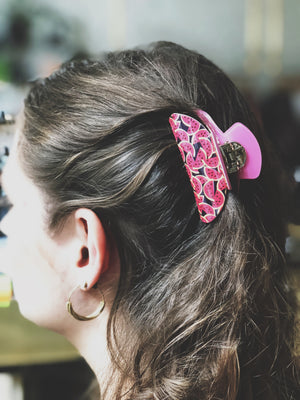 ZUZANNA G - THE FRUITY LOOP HAIRCLAW SMALL PINK