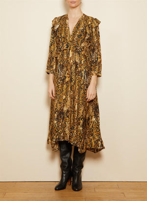BA&SH - SAHARA DRESS - OCRE