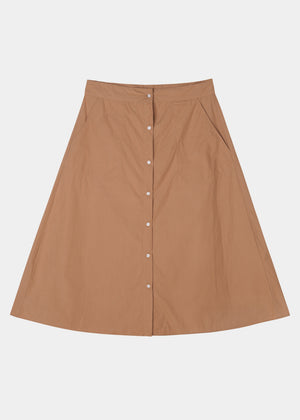 AIAYU - A-SHAPE SKIRT - TOBACCO