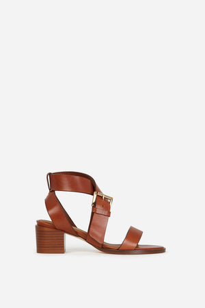 VANESSA BRUNO - Talon Sandals - Cognac