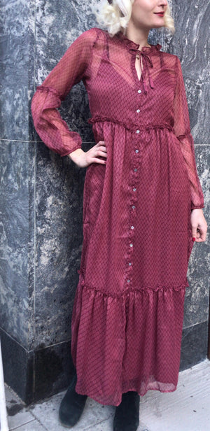 NEO NOIR - VIVI DRESS - DUSTY ROSE