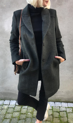 JOHNNYLOVE - NORA COAT - DARK GRREN