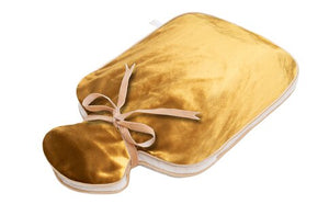 HOLISTIC SILK - HOT WATER BOTTLE - GOLD SILK VELVET