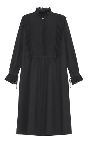 SKALL - IRIS SHIRTDRESS - BLACK