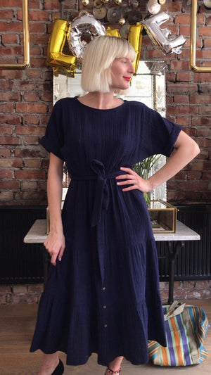 XIRENA - AERYN DRESS - NAVY