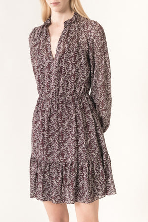 VANESSA BRUNO - MANUELA DRESS - AUBERGINE (STR. 42)